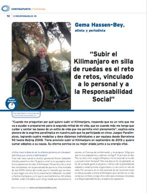 Corresponsables entrevista Gema Reto Cumbre Bey